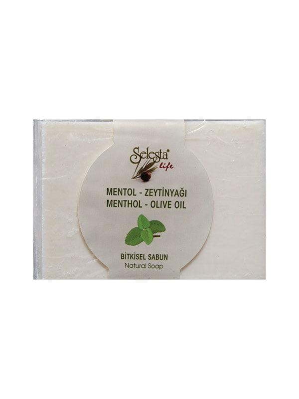 Мыло растительное с ментолом и оливковым маслом   4986477