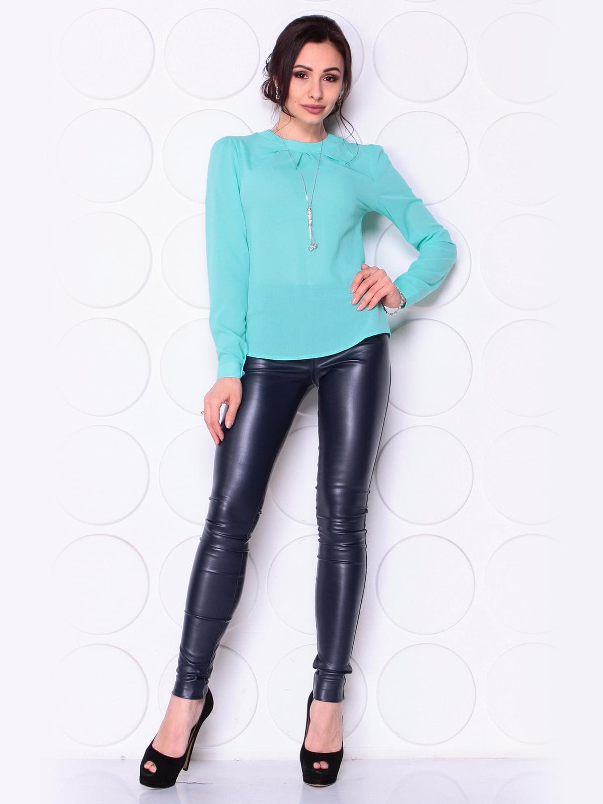 Блуза м'ятного кольору | 5043880