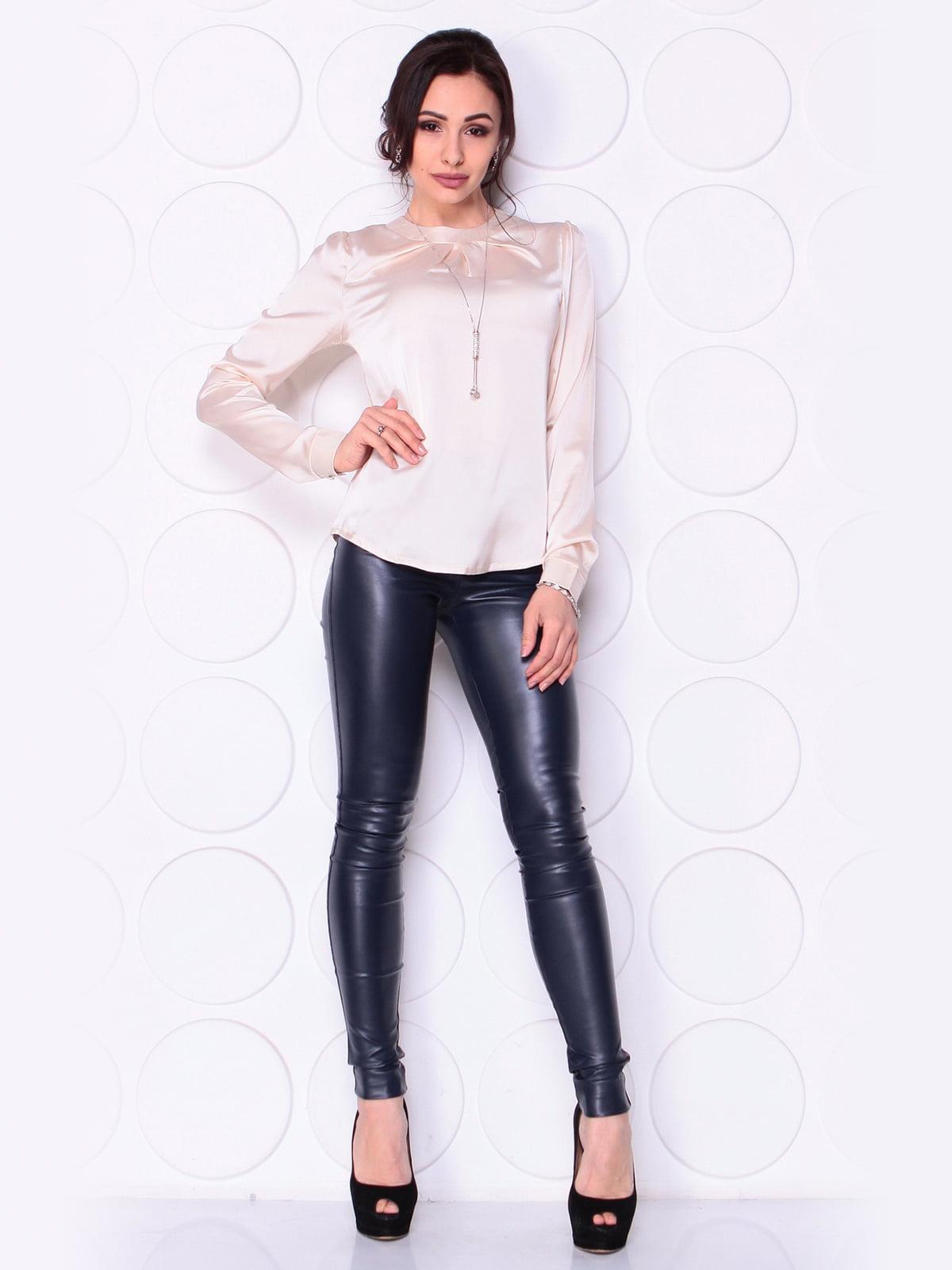 Блуза кольору пудри | 5043881