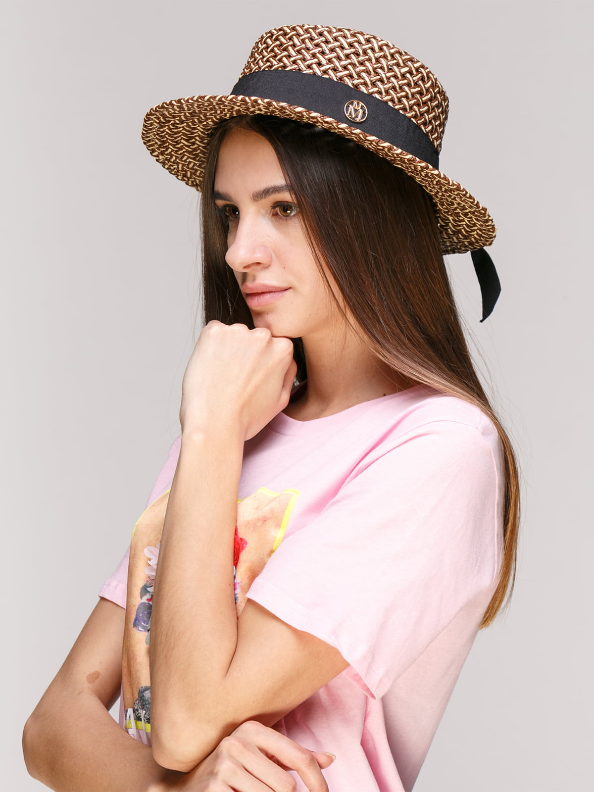 Шляпа коричневая   5029385