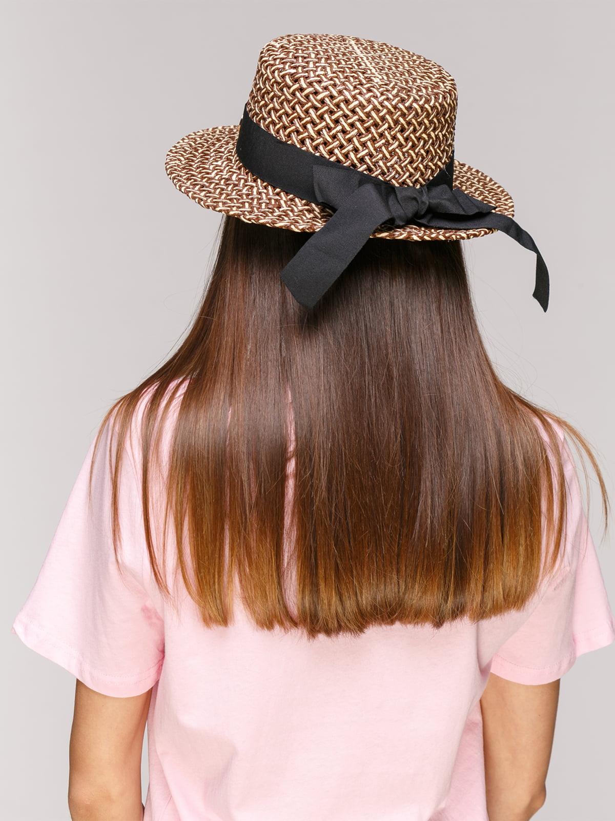 Шляпа коричневая   5029385   фото 2