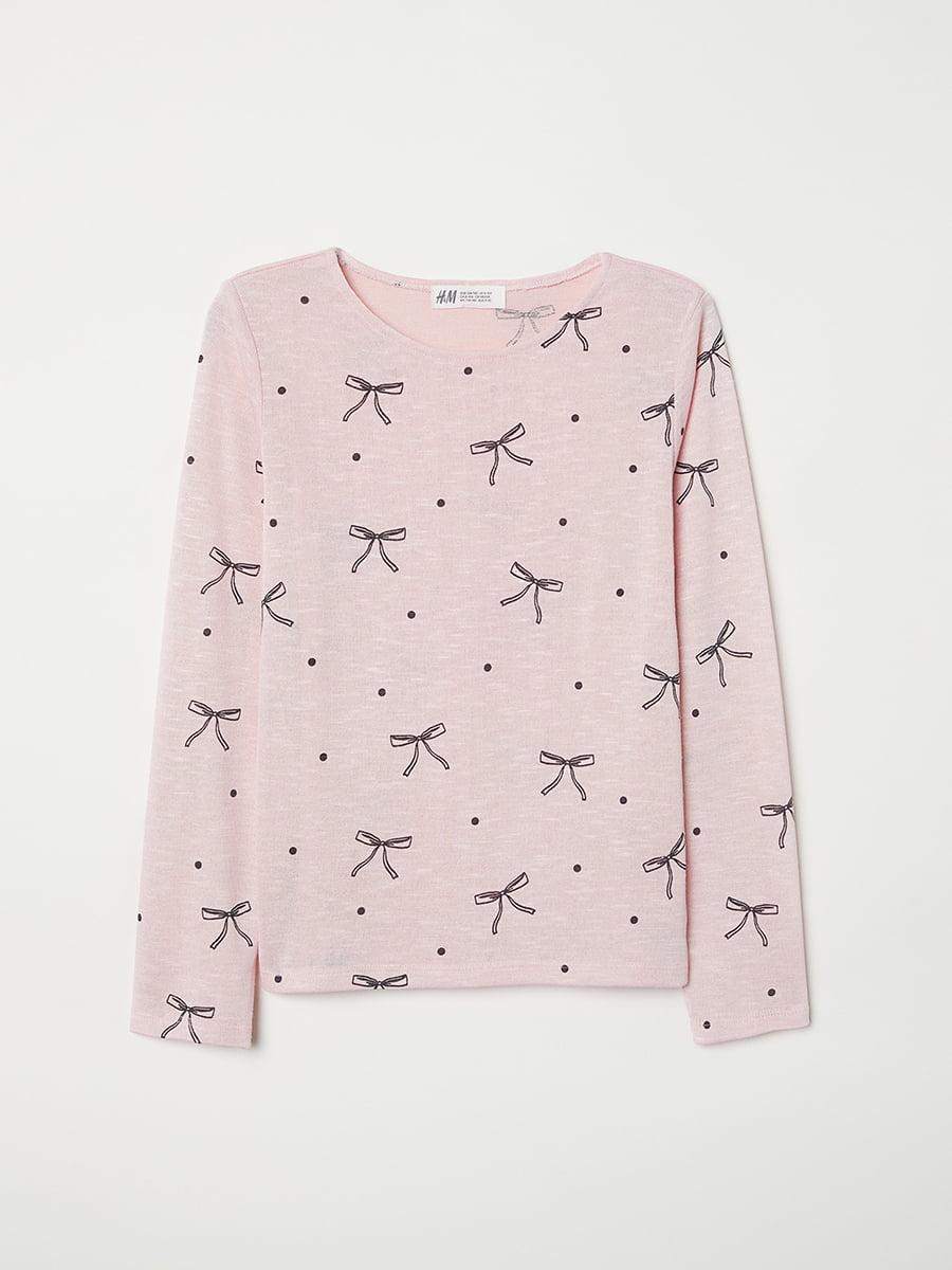 Лонгслив розовый   5046546