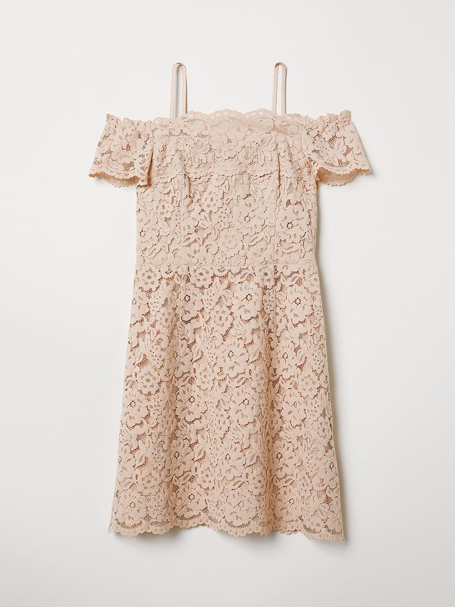 Платье бежевое | 5046574