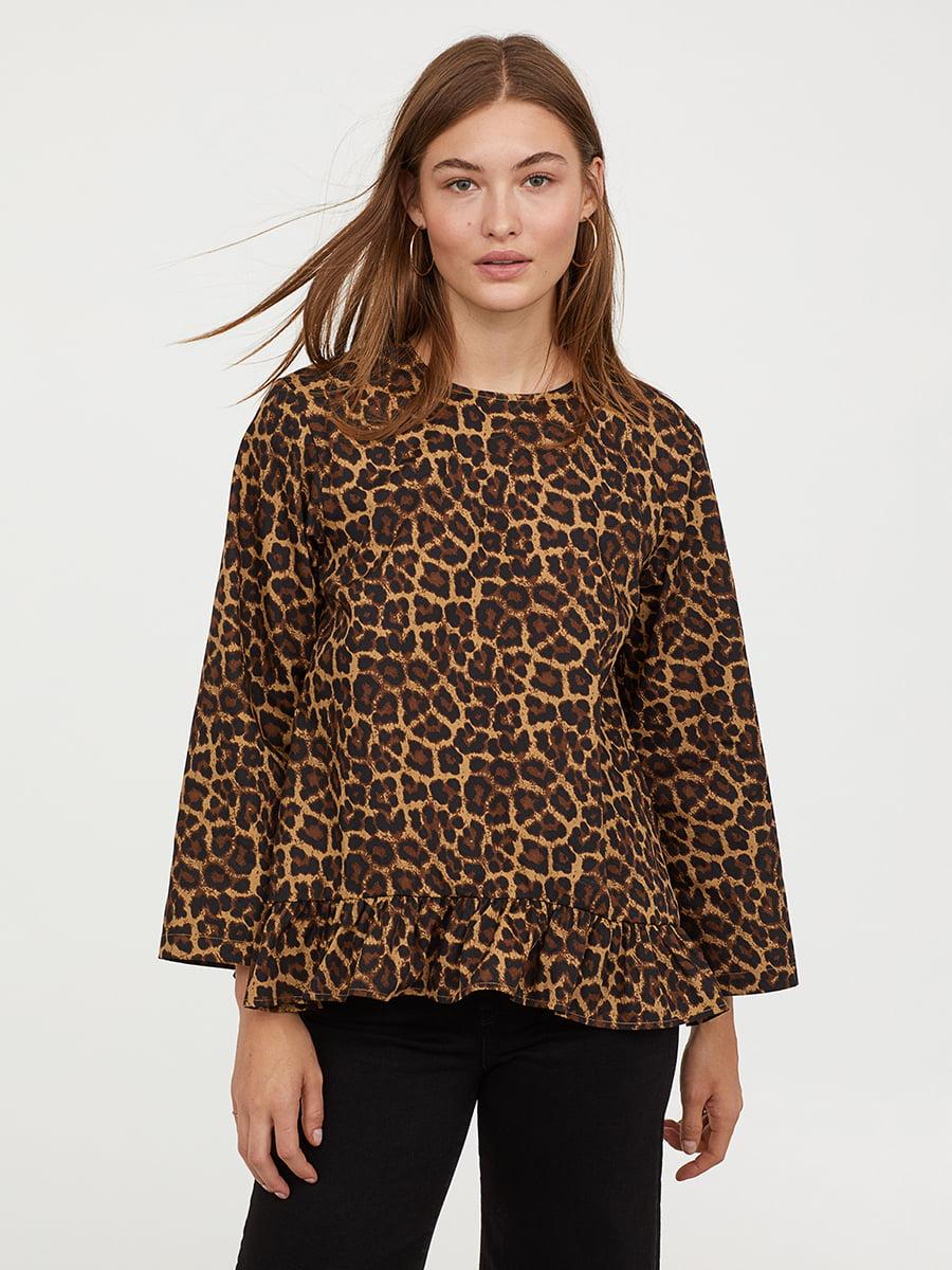 Блуза анималистической расцветки   5046616