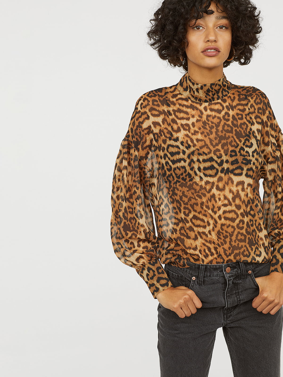Блуза в анималистический принт | 5046999
