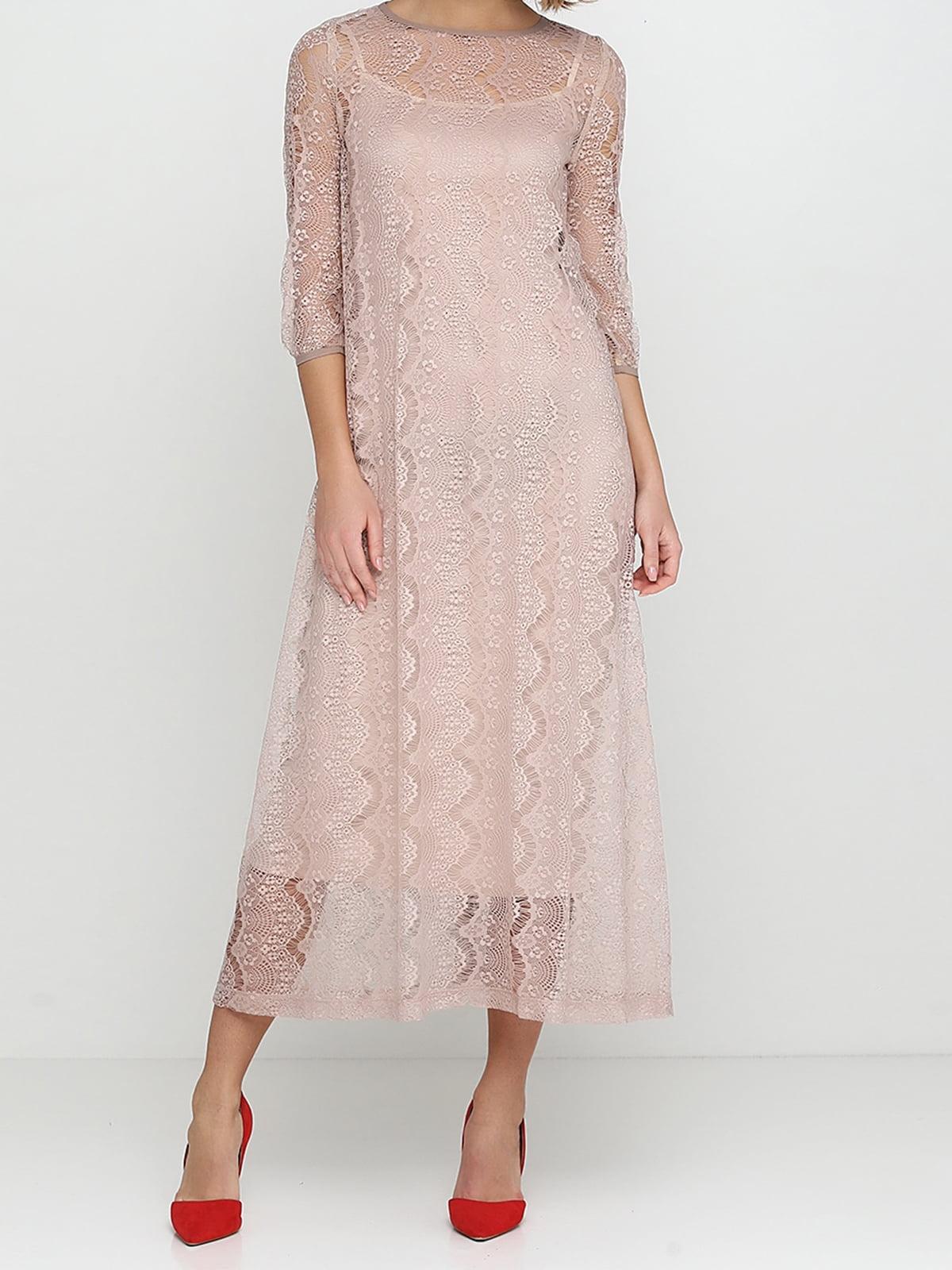 Платье цвета пудры | 5014562