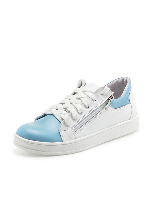 Кеды бело-голубые | 4950326