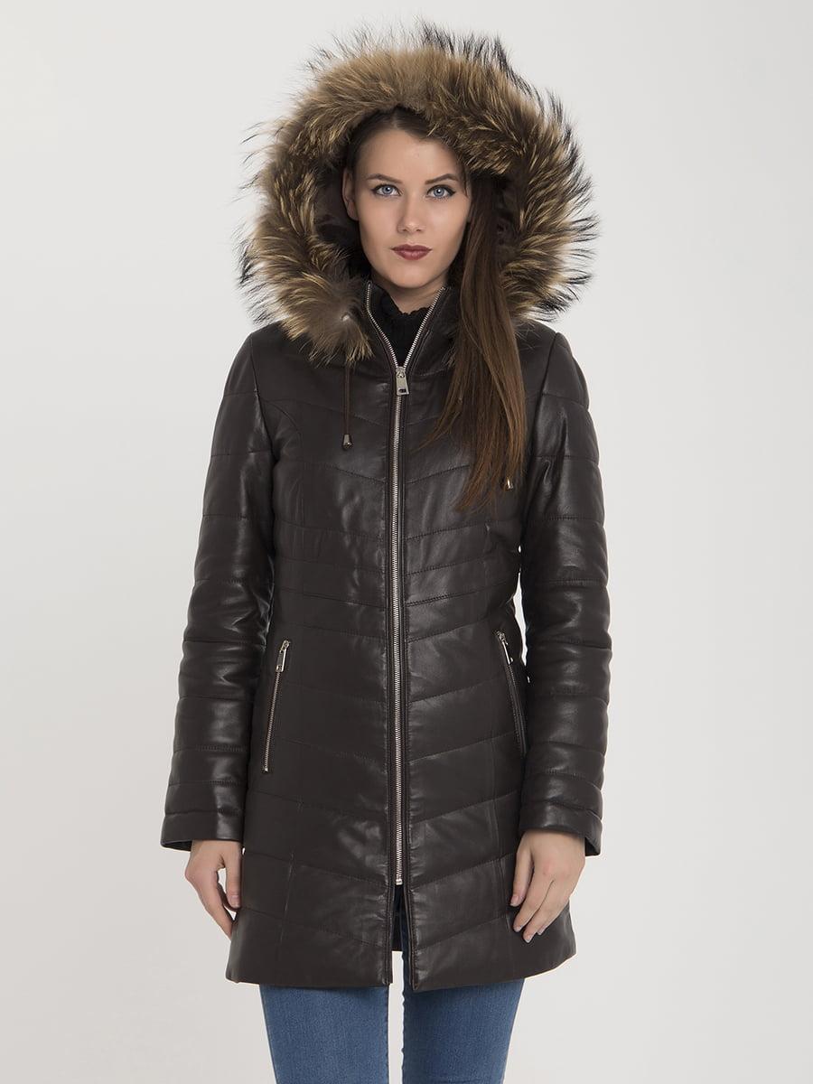 Пальто коричневе | 3993085 | фото 6