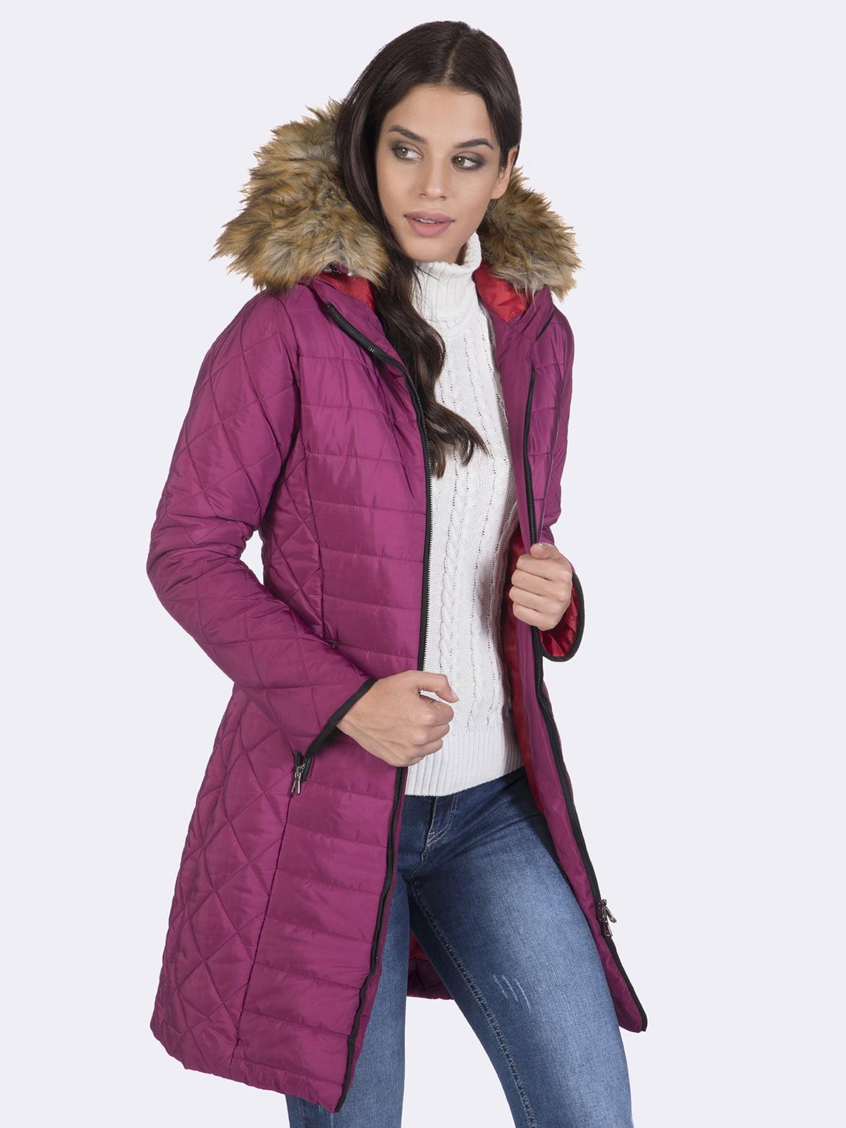 Пальто кольору фуксії | 4593015 | фото 5