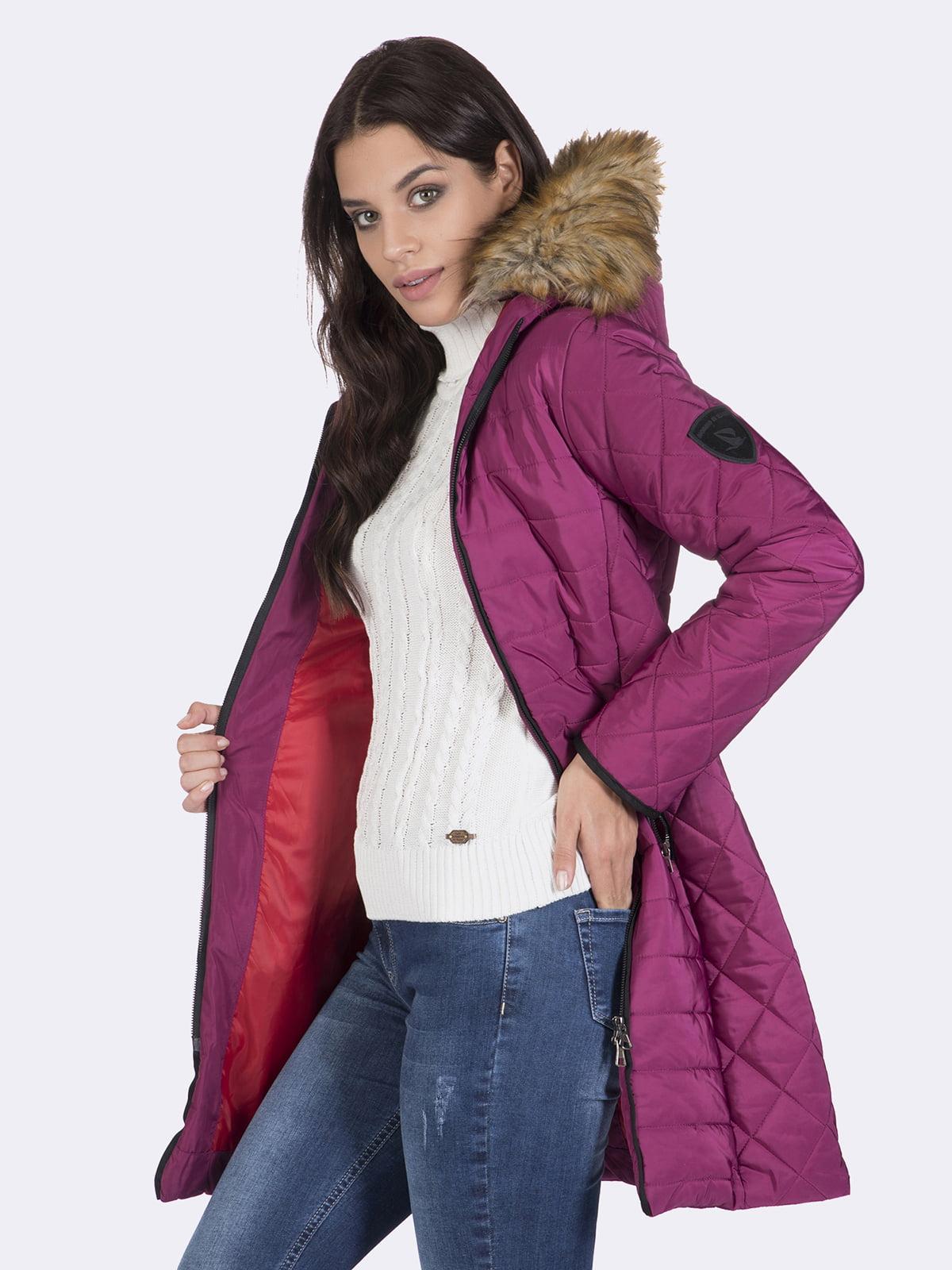 Пальто кольору фуксії | 4593015 | фото 7