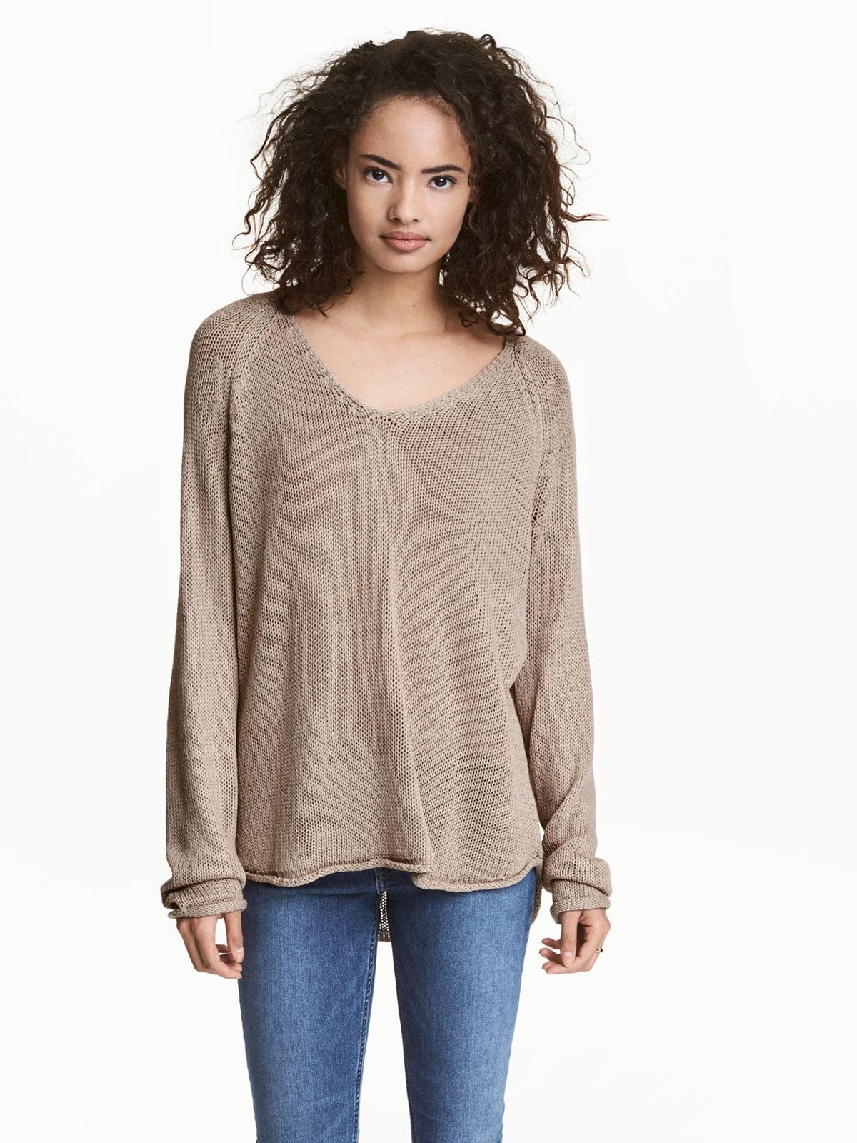 Пуловер коричневый | 5044966