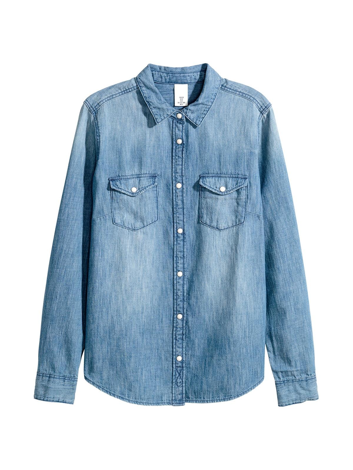 Рубашка голубая | 5045188