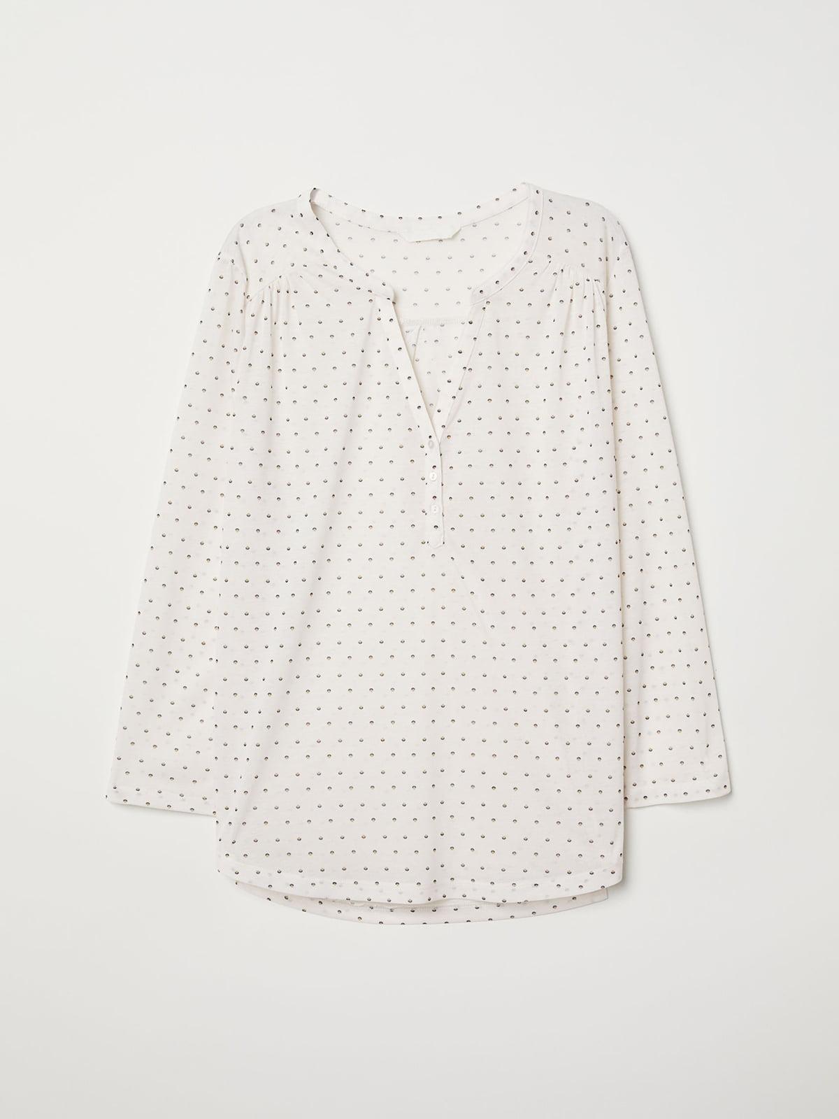 Блуза белая в горошек   5045463