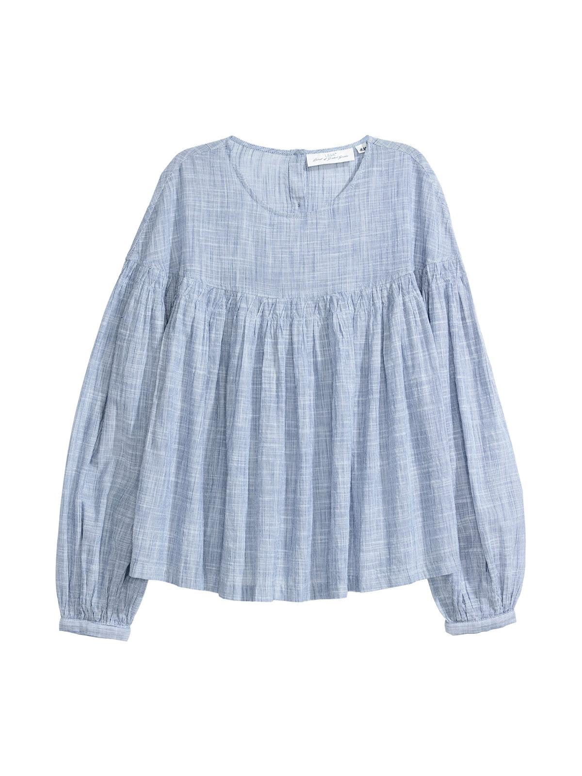 Блуза синяя   5045639