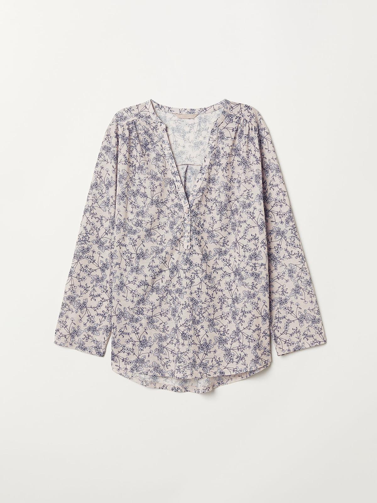 Блуза в цветочный принт   5046444