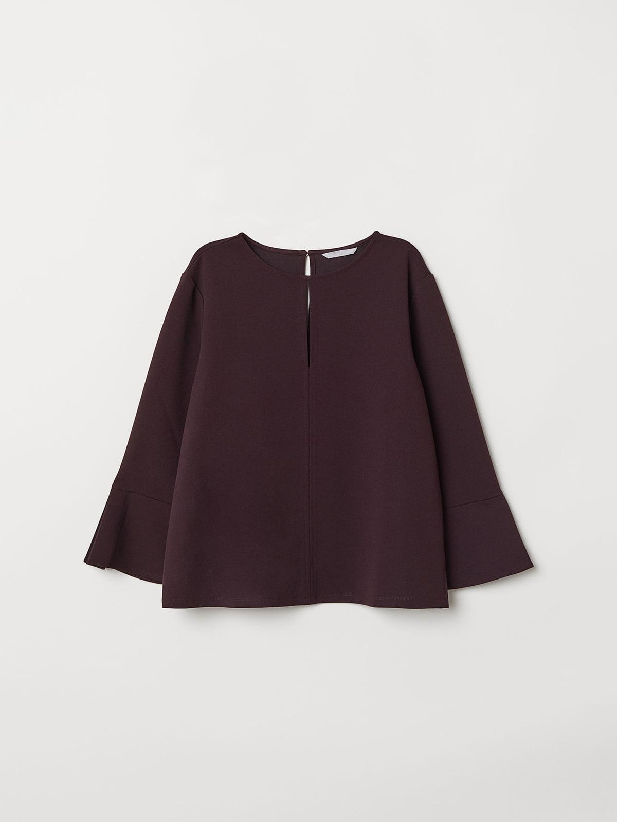 Блуза темно-бордовая | 5047036