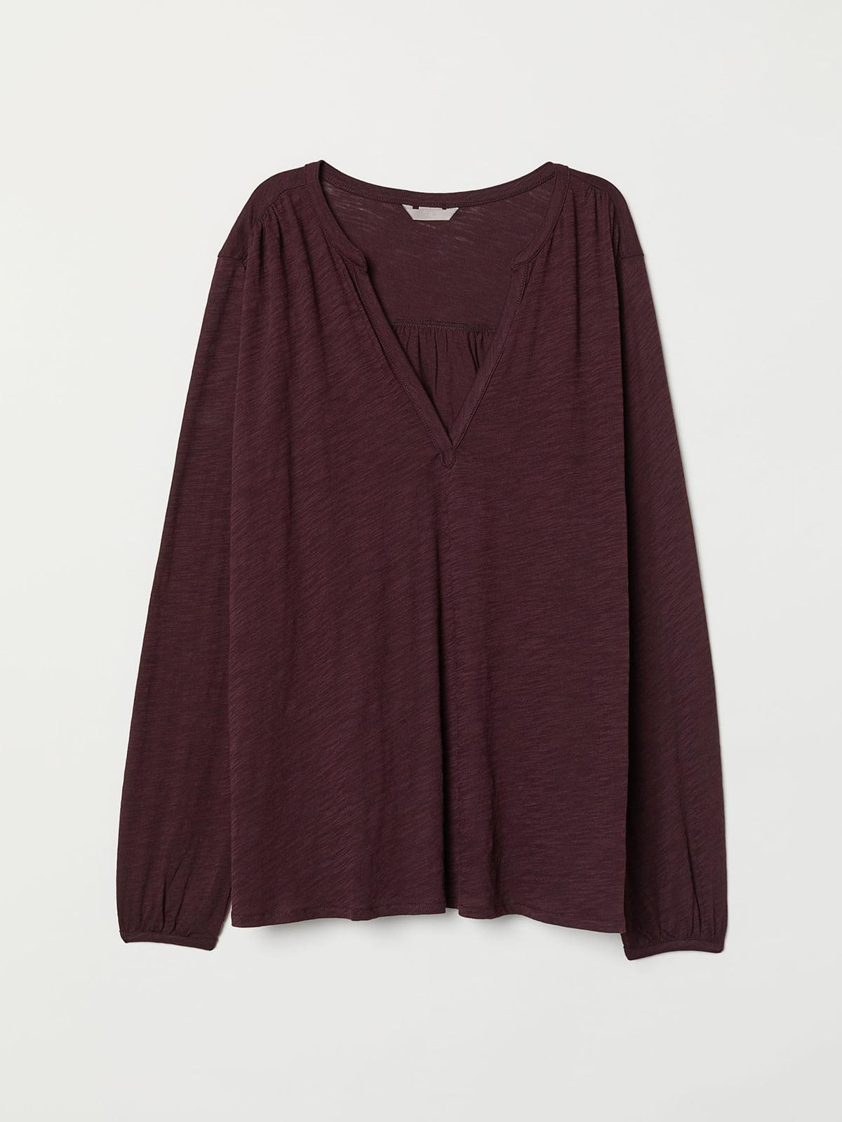 Блуза бордовая | 5047101