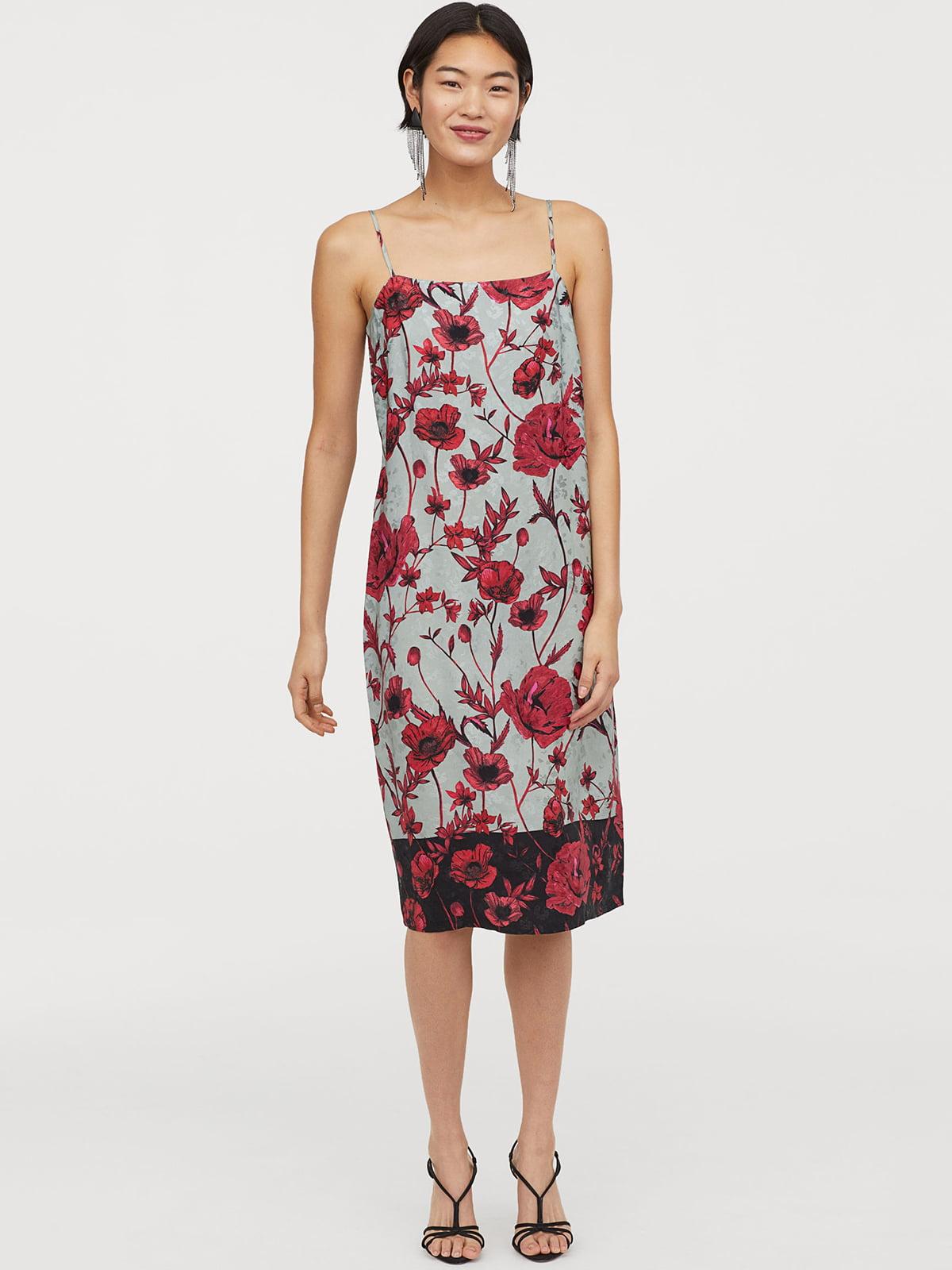 Платье в цветочный принт | 5047138