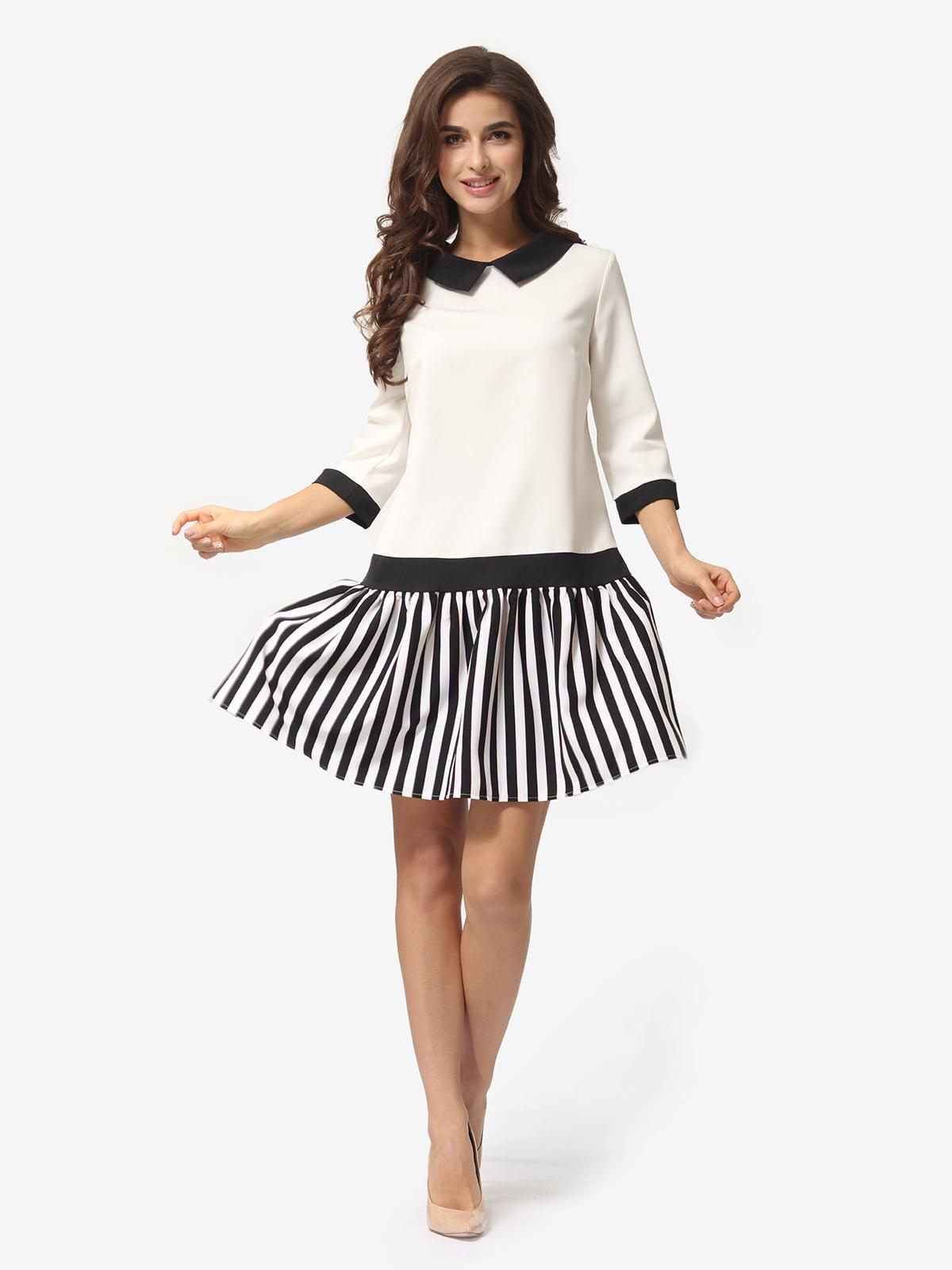 Сукня молочного кольору в смужку | 5054460