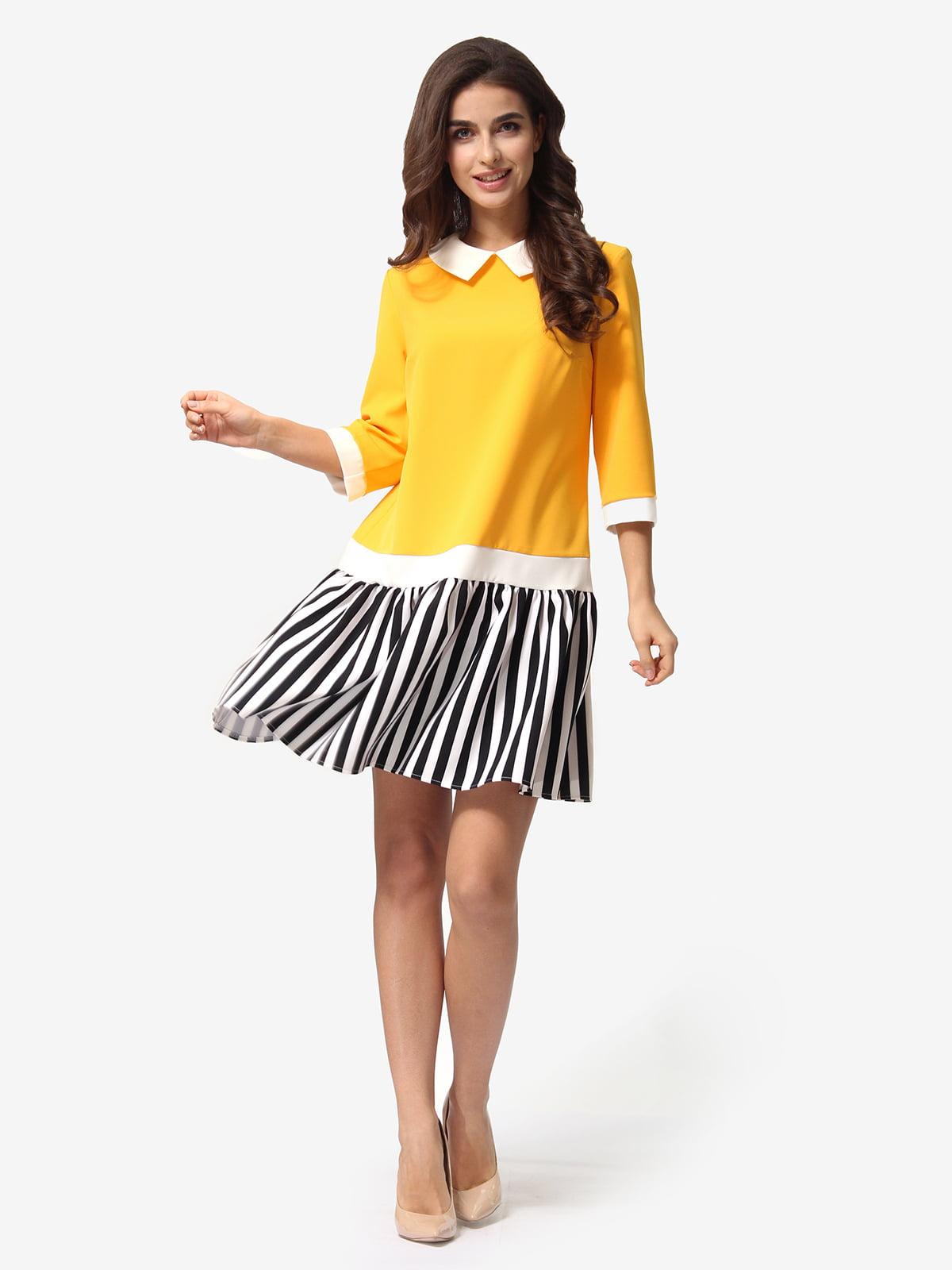Сукня помаранчева в смужку | 5054463
