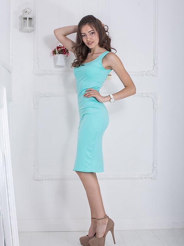 Платье мятного цвета | 5036409 | фото 2