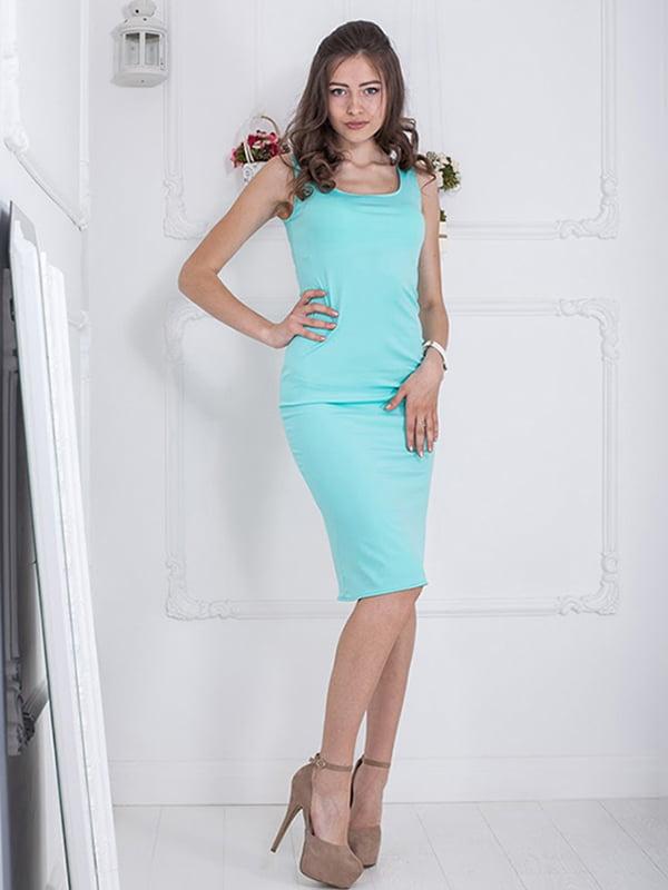 Платье мятного цвета | 5036409 | фото 3