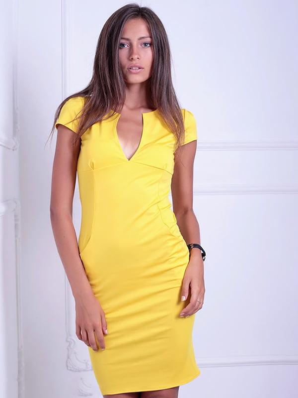 Платье желтое   5036448   фото 5