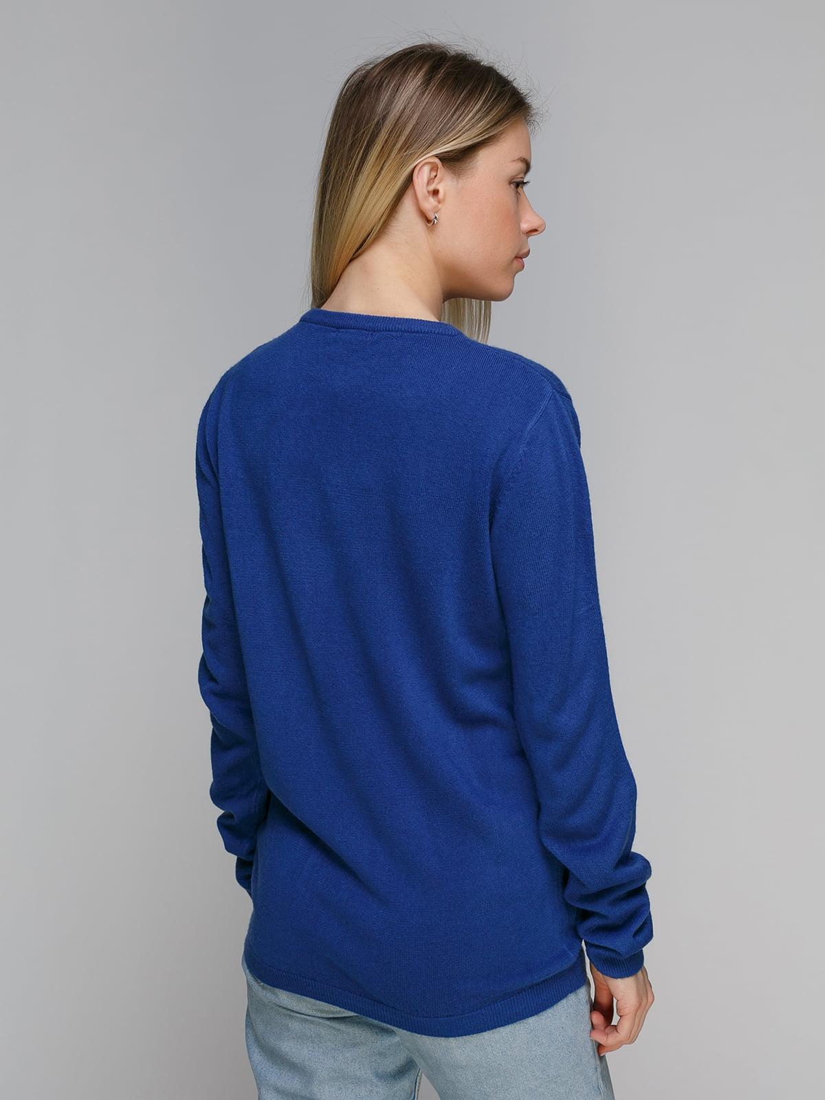 Пуловер синий | 4855276 | фото 2