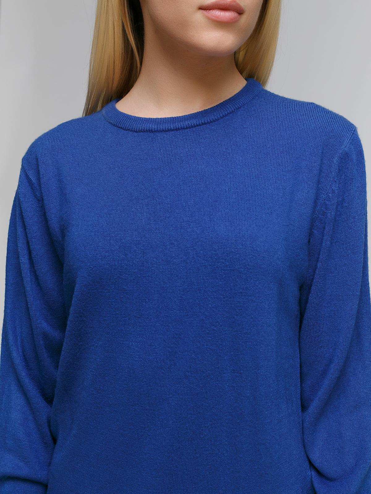 Пуловер синий | 4855276 | фото 3