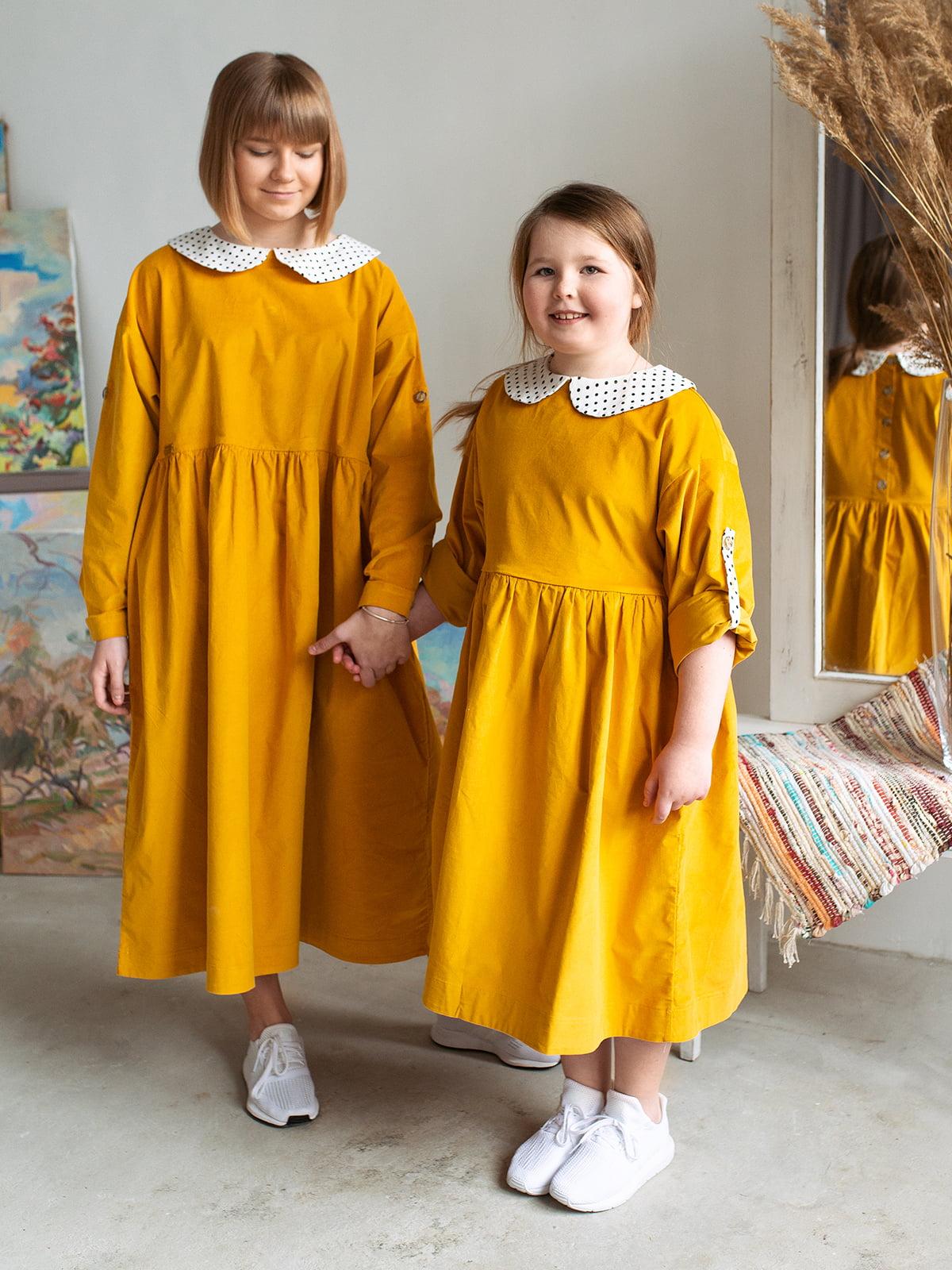 Платье цвета охры | 5056686 | фото 3