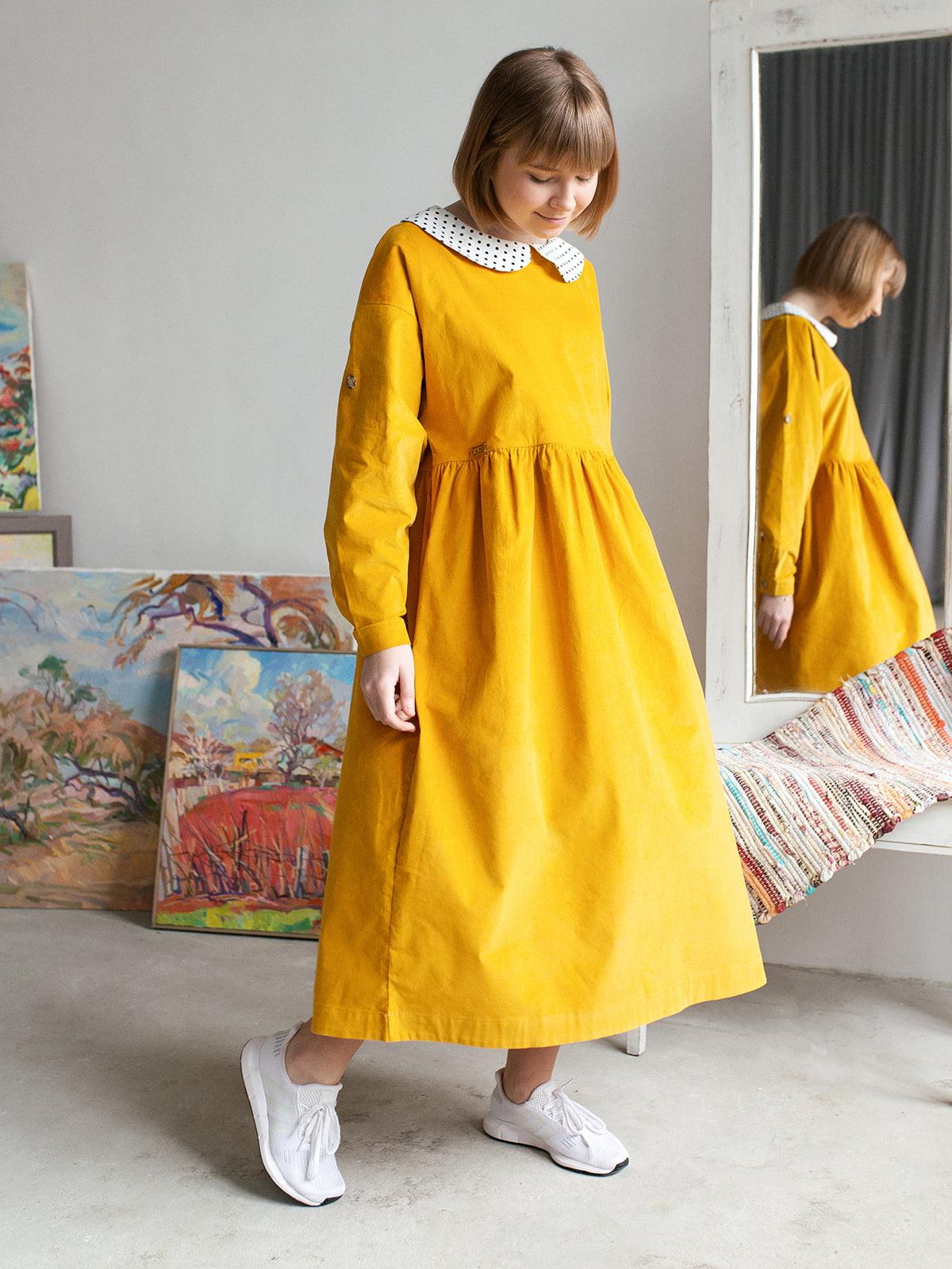 Платье цвета охры | 5056686 | фото 4