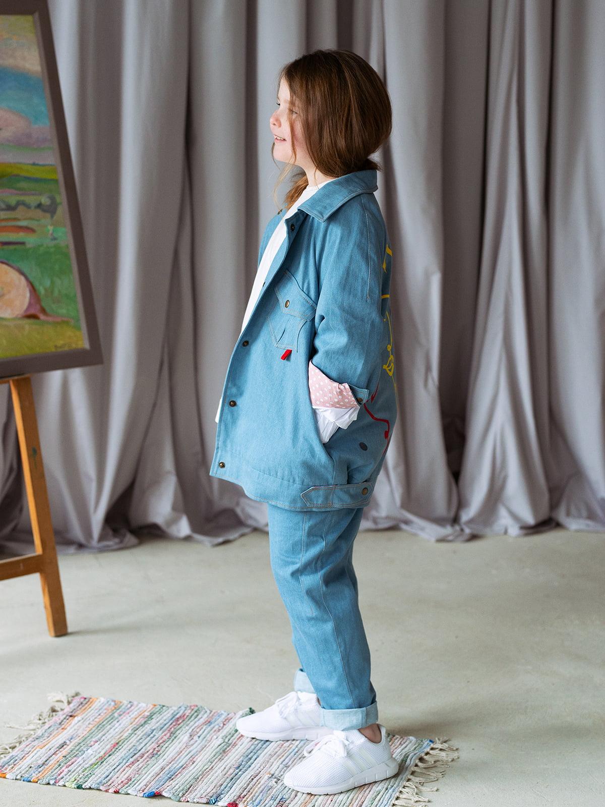 Джинсы голубые   5056717   фото 3