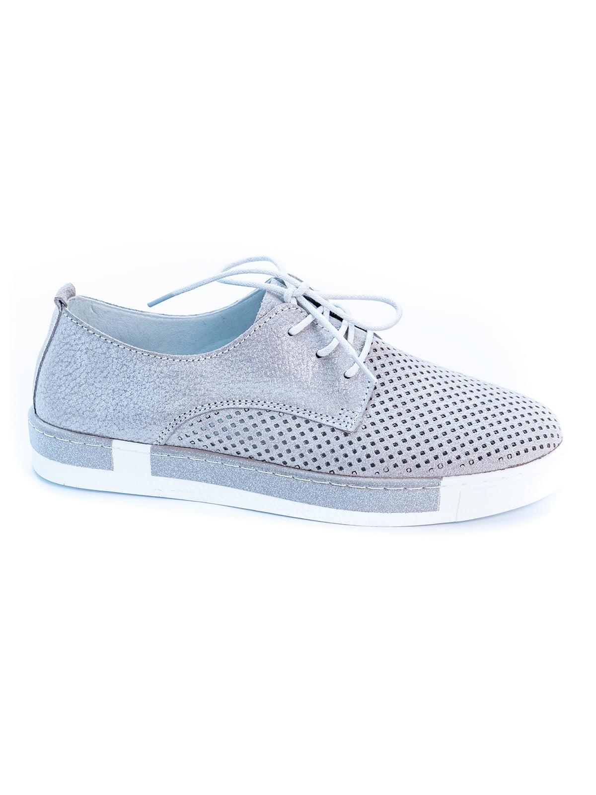 Туфли серебристого цвета   5056957