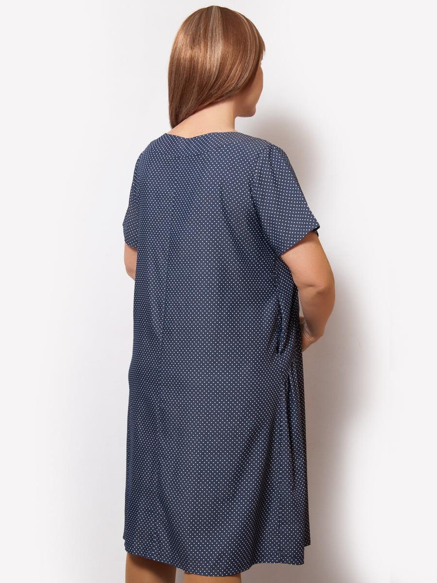 Платье синее в горошек | 5057264 | фото 2