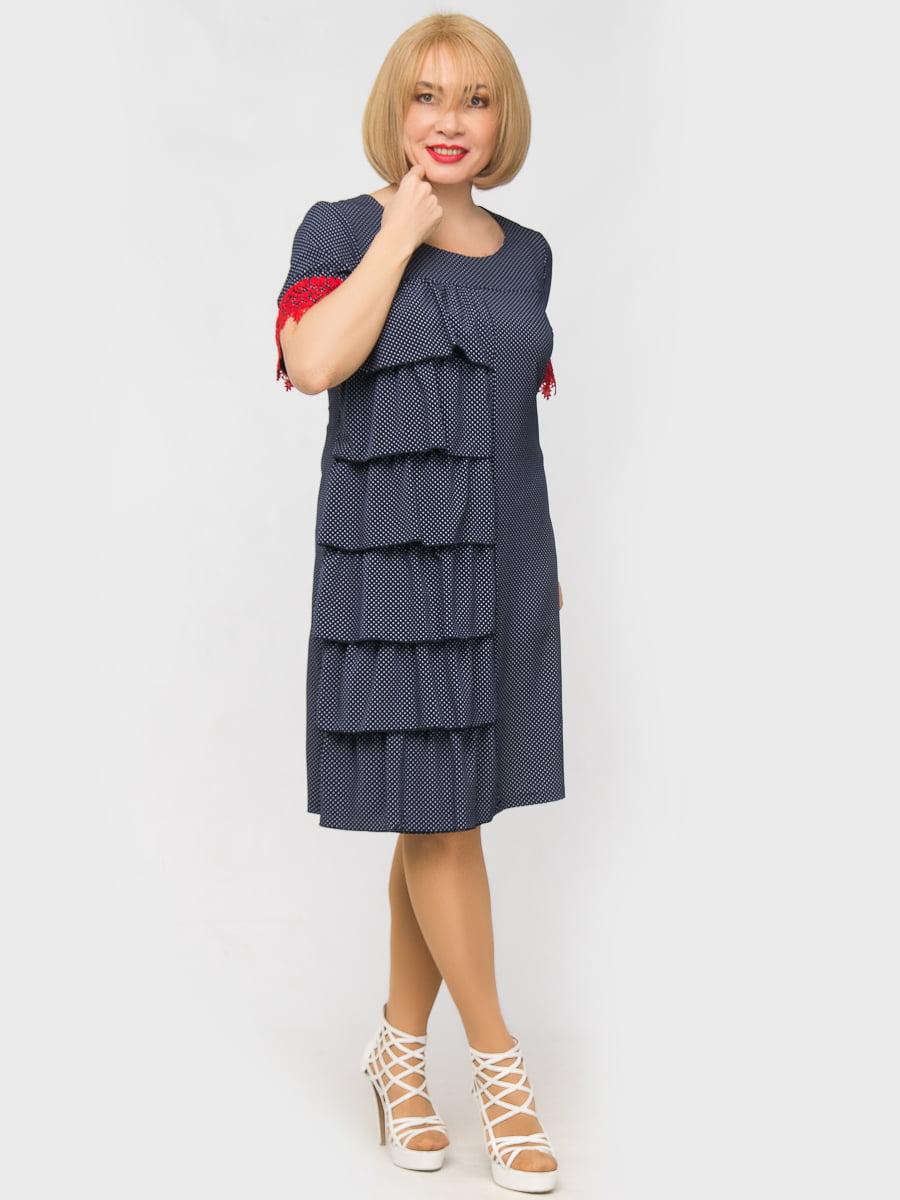 Платье синее в горох   5057275