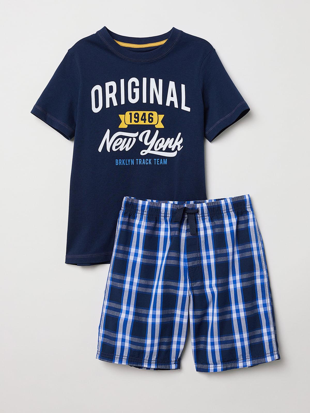 Пижама: футболка и шорты | 5045384