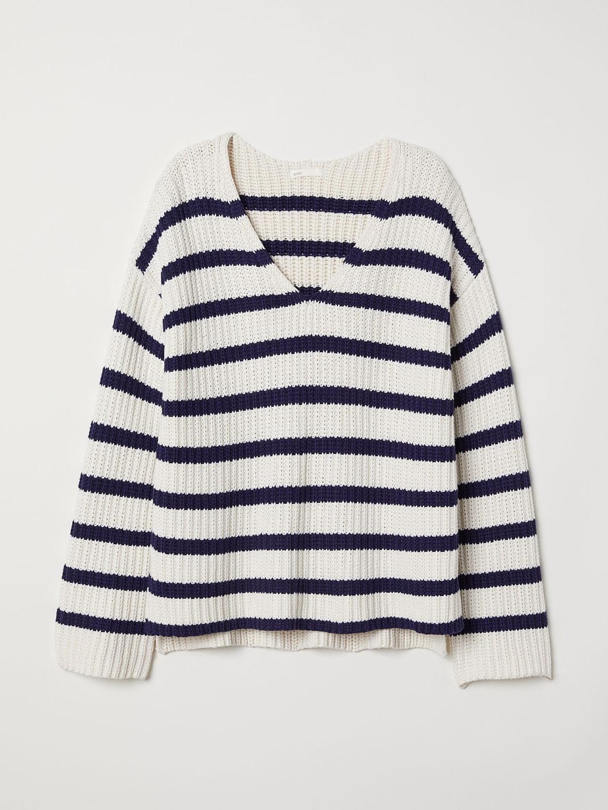 Пуловер в полоску | 5046427