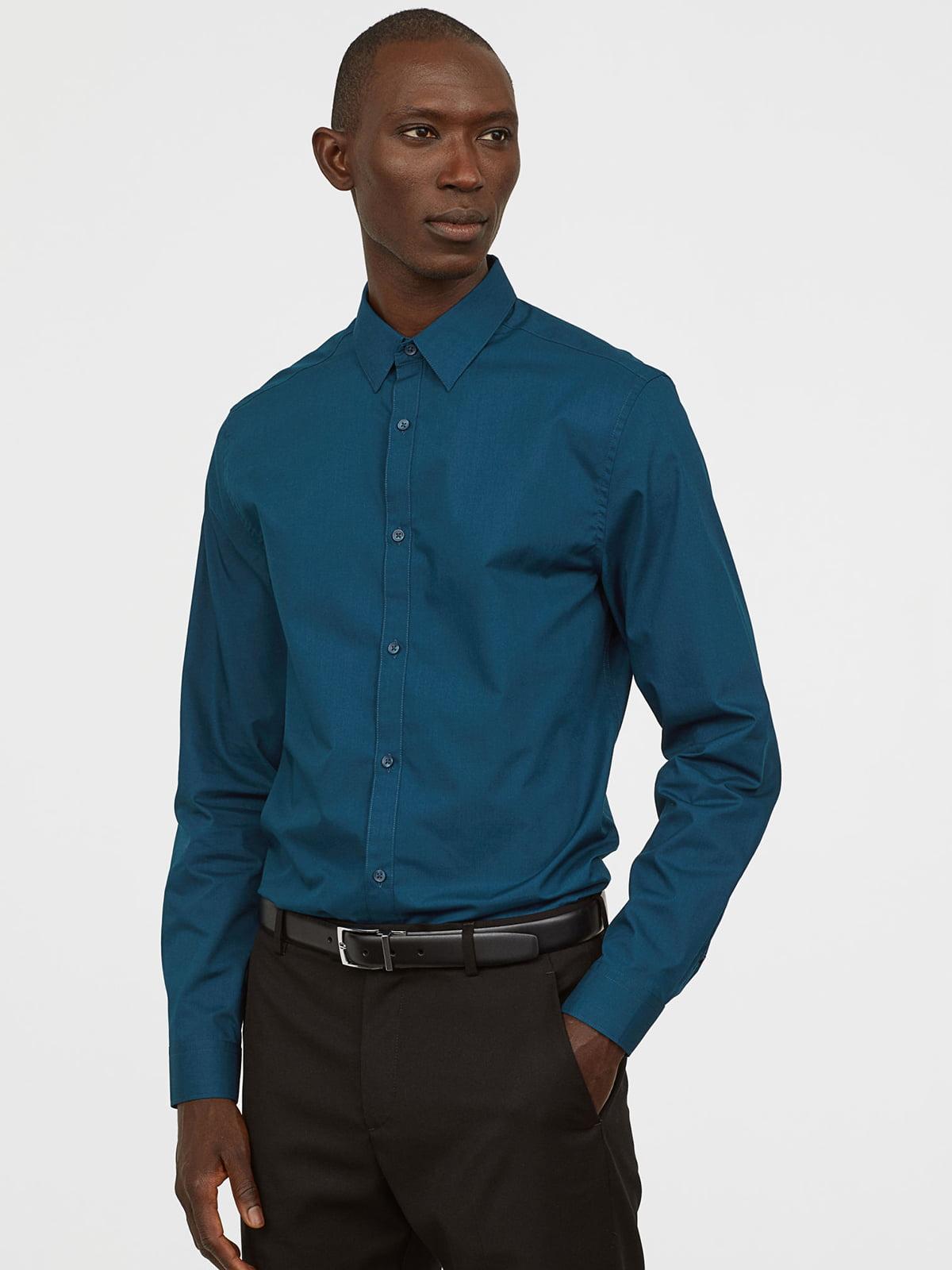 Рубашка бирюзовая   5047128