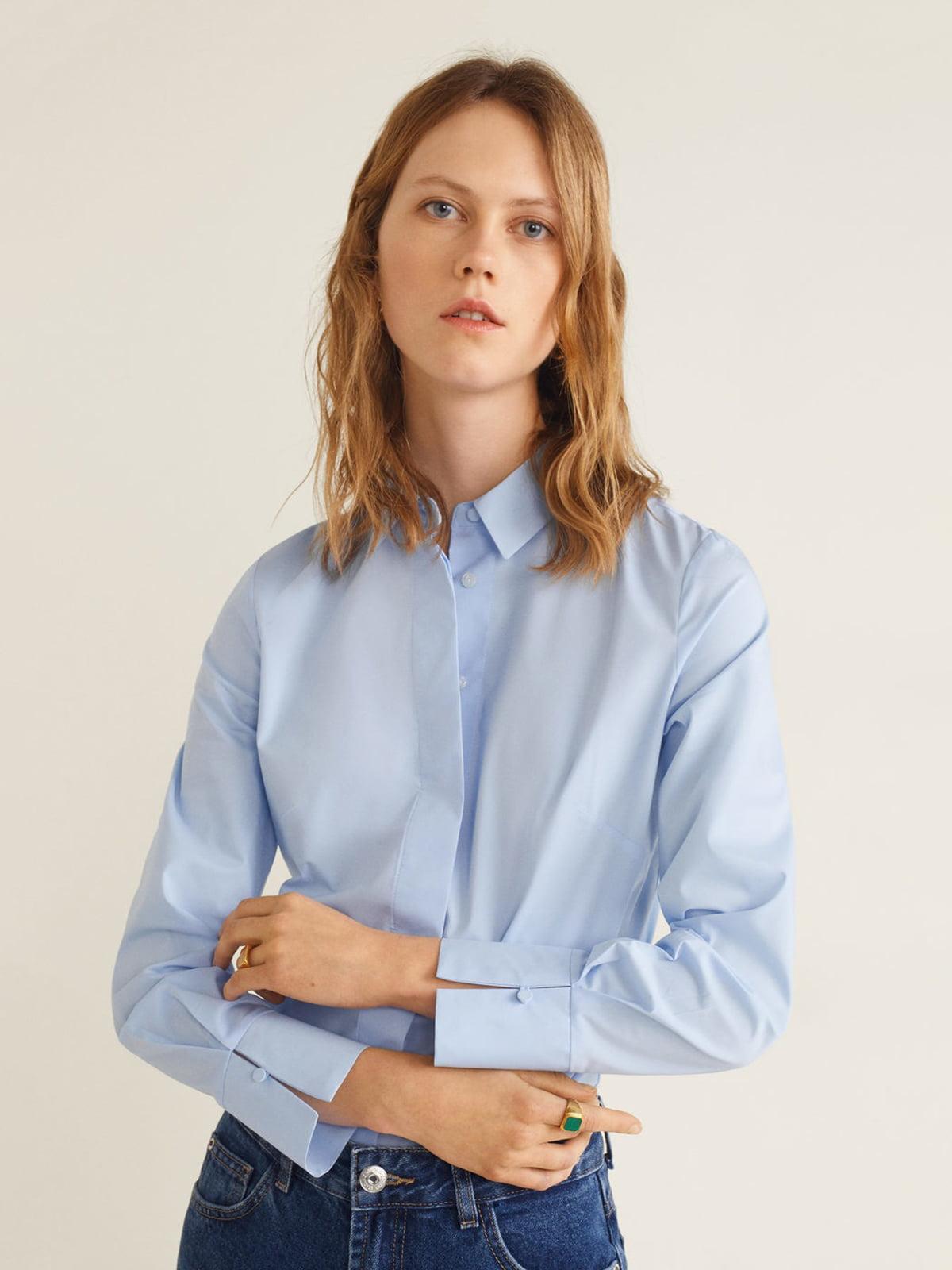 Рубашка голубая | 4866906
