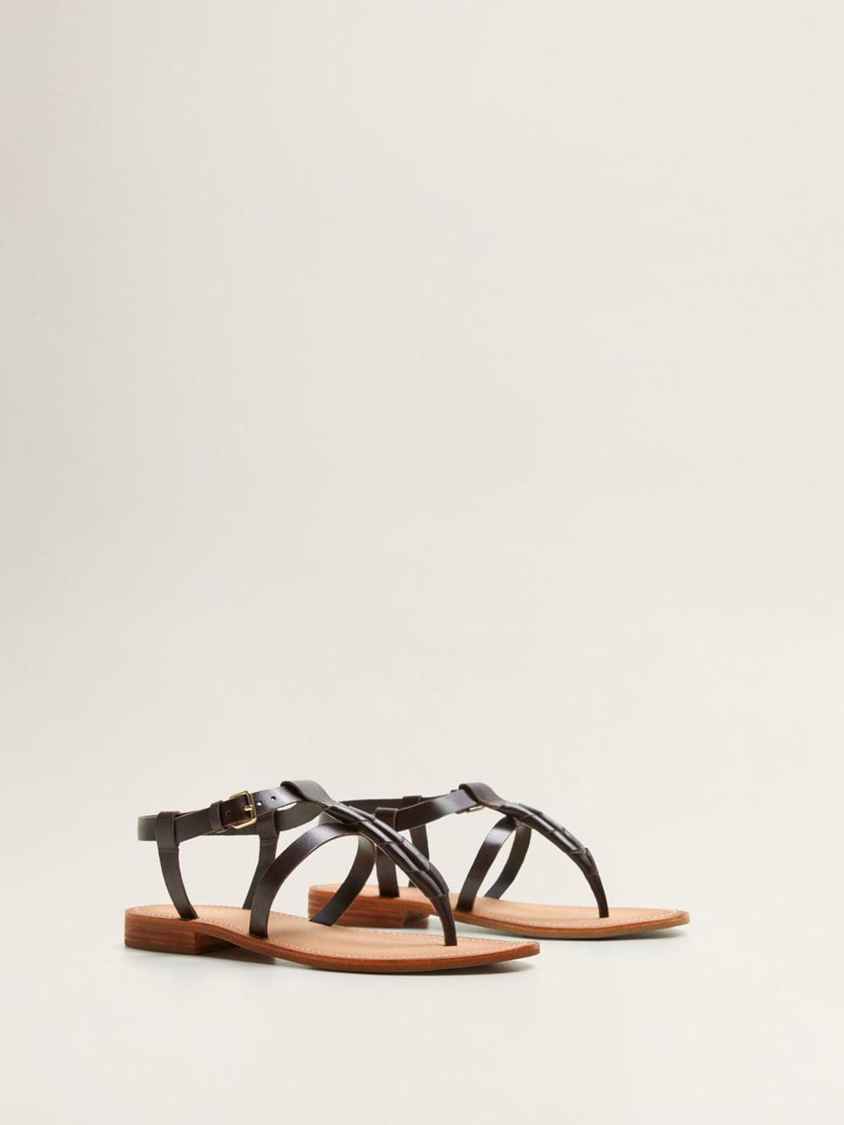 Сандалии темно-коричневые | 4981663