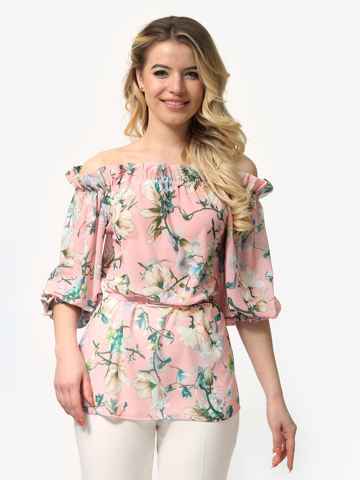Блуза в квітковий принт | 5061722