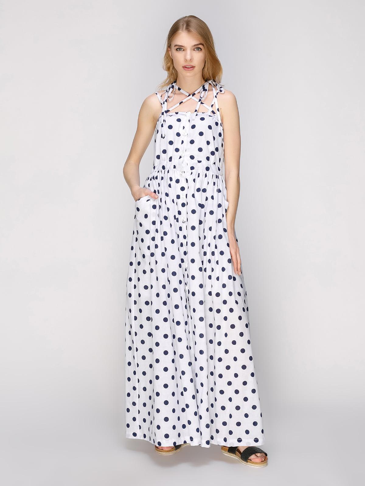 Сукня біла в горох | 5056825