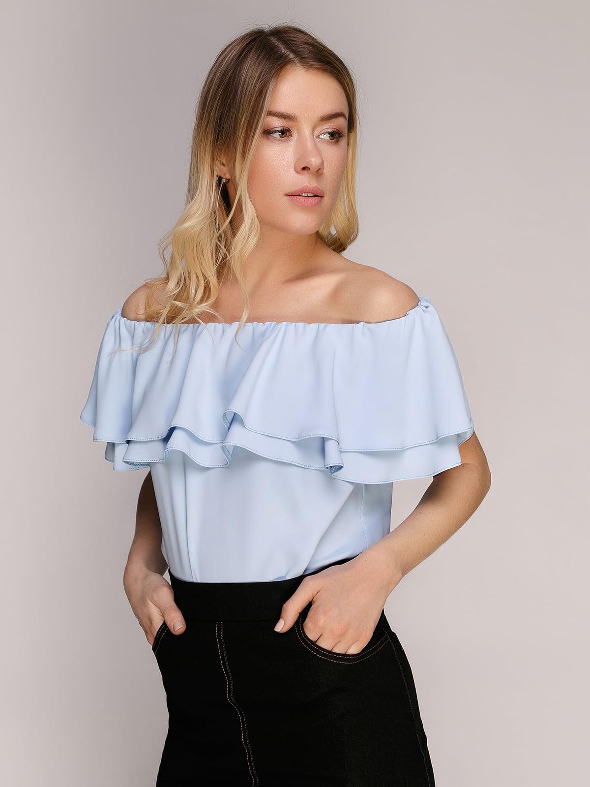 Блуза блакитна | 5058604