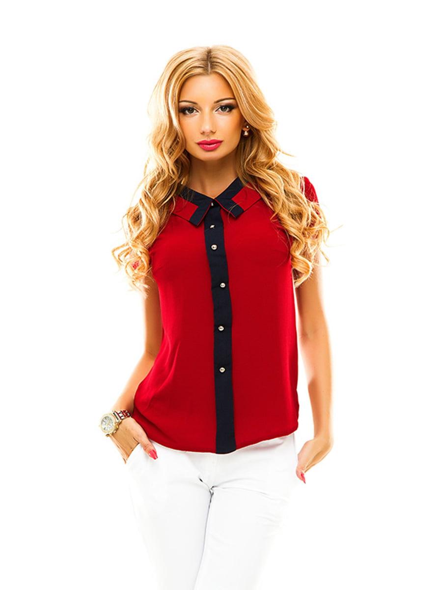 Блуза бордовая | 4615777