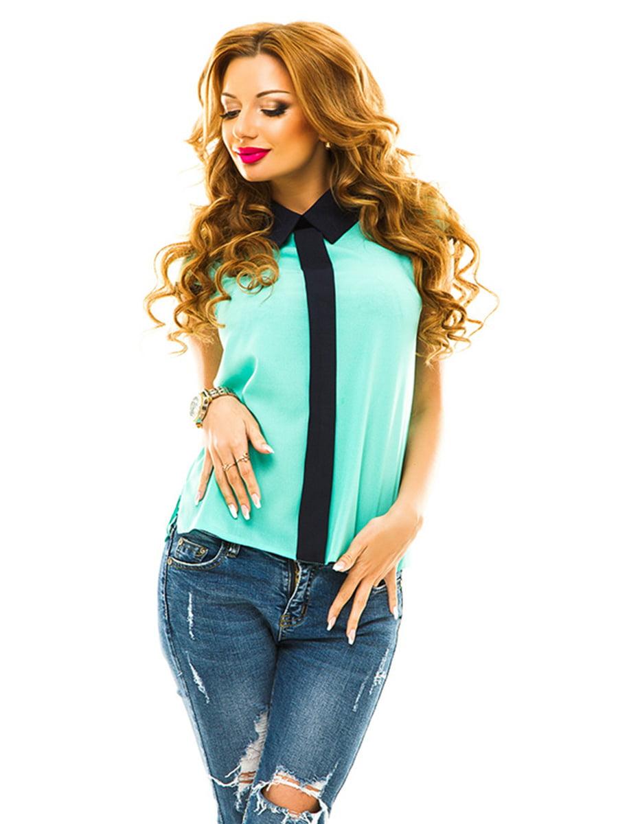 Блуза м'ятного кольору | 4655306