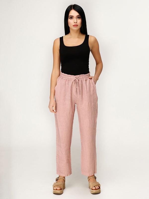 Штани рожево-коричневого кольору | 4949848