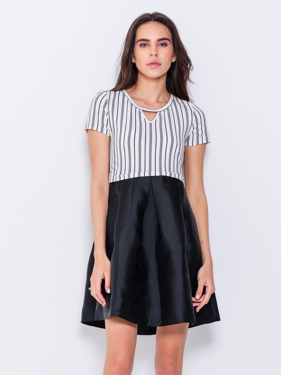 Платье двухцветное в полоску   5055243