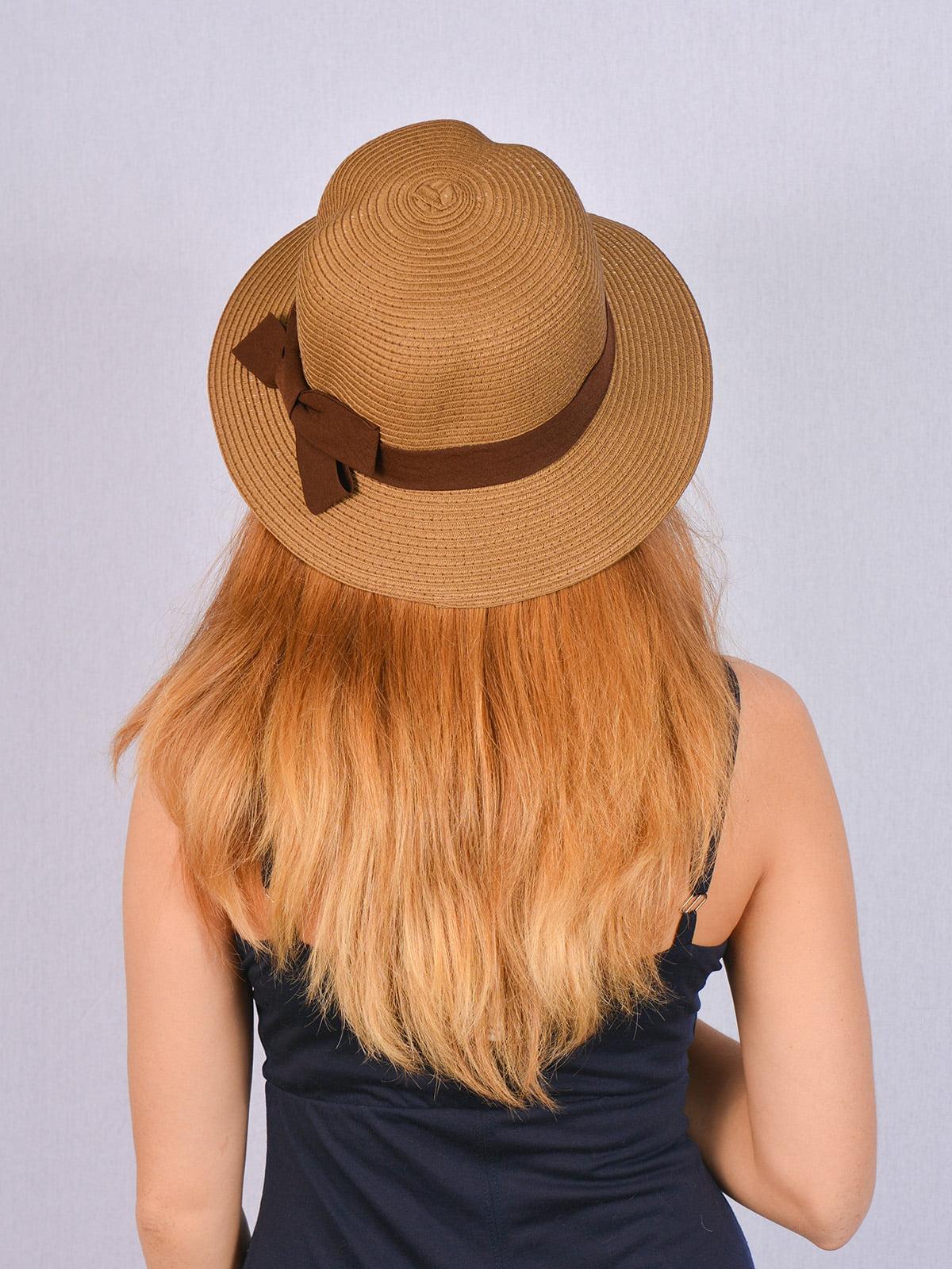 Шляпа коричневая | 5070850 | фото 2