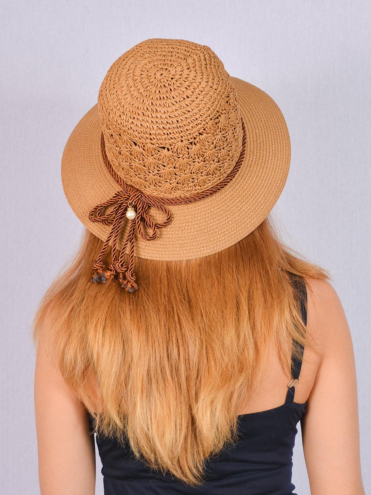 Шляпа коричневая | 5070851 | фото 2
