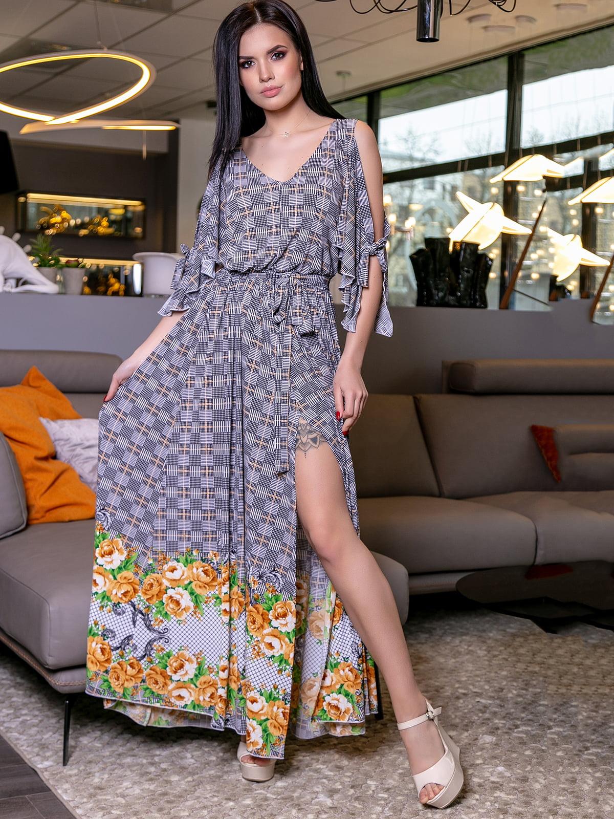Платье в цветочный принт | 5071245